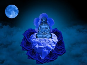 the_blue_buddha_on_blue_moon_by_eric_fx_raven-d3c1f2w