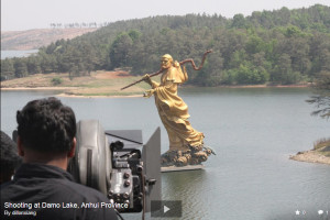 Damo statue at Damo lake